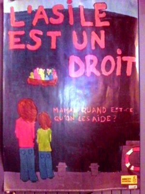 Affiche d'Amnesty International - photo CC by AD www.amnesty.fr